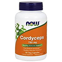 NOW Supplements, Cordyceps (Cordyceps sinensis)750 mg, Healthy Immune Support*, 90 Veg Capsules