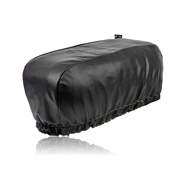 """Dustproof UV Protection Winch Dust Cover for Electric Winches Up to 17500Lbs PU Leather Winch Protective Cover Kohree Winch Cover 24/"""" W x 10/"""" H x 7/"""" D Black Waterproof"""
