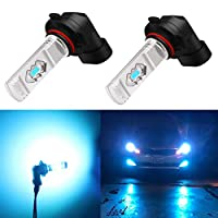 Xotic Tech H10 LED Fog Light Bulb 8000K Ice Blue 9145 9140 COB Chip 2800LM Extremely Super Bright