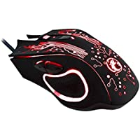 Black DDETAO Estone X9 USB 6 Buttons 5000 DPI Wired Multi Color LED Optical Gaming Mouse for Computer PC Laptop Mice