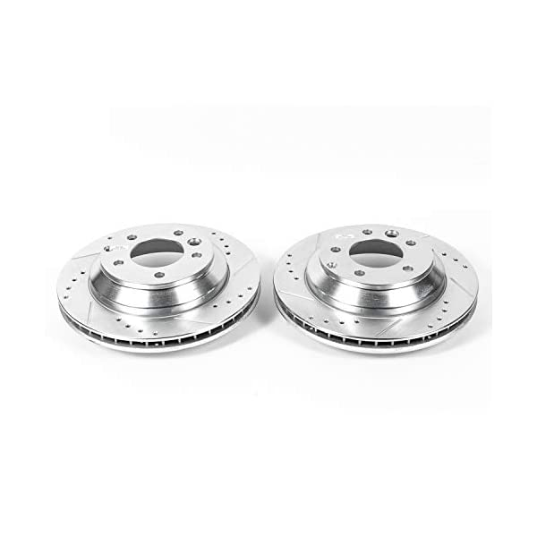 EBR1014XPR Rear Evolution Performance Drilled /& Slotted Rotors Power Stop