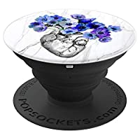 Anatomical Heart and Violet Flowers light Design cute gift PopSockets Grip and Stand for Phones and Tablets