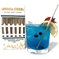 100% Natural Wheat Hay Straws - Big Pack of 100 Natural Eco Friendly Biodegradable Drinking Straws - Disposable, Safer, Healthier Than Reusable Bamboo Straws Reusable, Paper, Plastic Straws