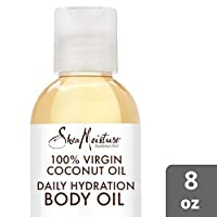 SheaMoisture Daily Hydration Body Oil for Dry Skin 100% Virgin Coconut Oil with Shea Butter 8 oz