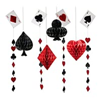 CASINO NIGHT Cards and Dice Party Supplies and Balloon decorations Mayflower SG/_B075ZHW529/_US