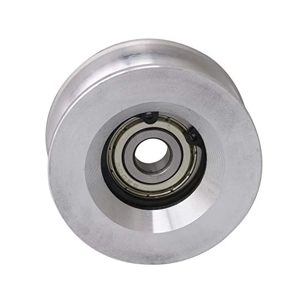 CNBTR 5x29.5x8mm U Shaped 440C Stainless Steel Sealed Bearing Guide Pulley Rail Ball Rolling Bearing Wheel Silver