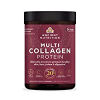 Ancient Nutrition - Multi Collagen Protein Powder - Pure, Collagen Peptides formulated by Dr. Josh Axe, Gluten Free, Made Without Dairy & Soy, 16 oz (Packaging May Vary)