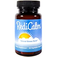 RediCalm - Clinically-Proven Natural Anxiety Relief Supplement - Non-GMO, Vegan, Gluten-Free