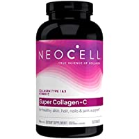 NeoCell Super Collagen + C 6, 000mg Collagen Types 1 & 3 Plus Vitamin C - 360 Tablets (Packaging May Vary)