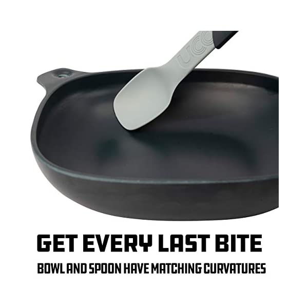 UCO 4-Piece Camping Mess Kit with Bowl Plate and 3-in-1 Spork Utensil Set