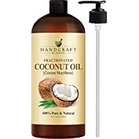 Fractionated Coconut Oil – 100% Pure & Natural Premium Therapeutic Grade - Coconut Carrier Oil for Essential Oils, Massage, Moisturizing For Skin & Hair, Great for Dogs – Huge 16 OZ