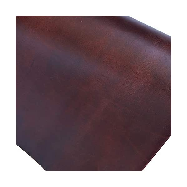 Leather Square 2.0mm Wine Color Thick DIY Cowhide Leather Oxblood Crazy Horse Leather Arts//Crafts//Tooling//Sewing//Hobby Workshop Leathercraft Accessories QYHQ