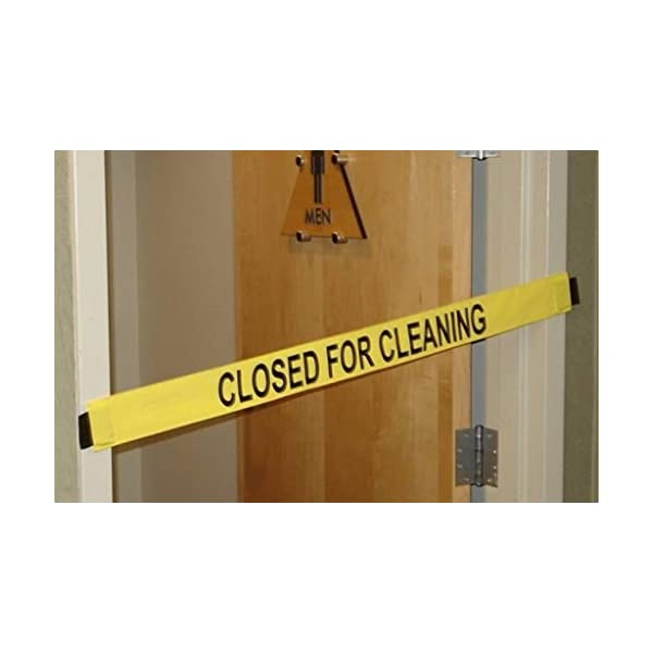 Slight Imperfections Closed for Cleaning Sign Nylon Banner with Magnetic Ends-12 Pack