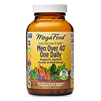 MegaFood, Men Over 40 One Daily, Daily Multivitamin and Mineral Dietary Supplement with Vitamins B, D and Zinc, Non-GMO, Vegetarian, 90 Tablets (90 Servings)