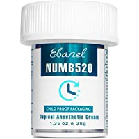 Ebanel 5% Lidocaine Topical Numbing Cream for Painkilling, 1.35oz Max Strength Pain Relief Cream Ointment Anesthetic Gel with Liposomal for Sections, Hemorrhoid, Local and Anorectal Discomfort
