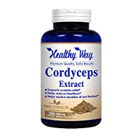Healthy Way Pure Cordyceps Extract 1000 mg 200 Capsules (Non-GMO & Gluten Free) Cordyceps Sinensis - Healthy Immune Support, Energy & Immunity Booster - Non GMO USA Made