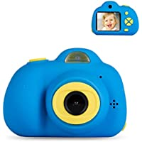 Deeteck Kids Video Camera Gifts for 3-6 Year Boys, Mini Digital Camera, Shockproof Children Camcorders, Toys for 4 5 6 7 Year Old Boys Birthday Gifts with 16GB SD Card(Blue)