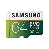 Samsung  (MB-ME64GA/AM) 64GB 100MB/s (U3) MicroSDXC EVO Select Memory Card with Full-Size Adapter