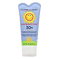 California Baby SPF30+ Sunscreen Lotion, Everyday/Year Round, Water Resistant and Hypo-Allergenic, 2.9 Ounce