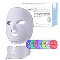 YOURFUN Rechargeable 7 Color LED Mask for Face and Neck Light Skin Rejuvenation Facial Beauty Daily Skin