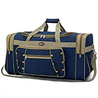 Travel Duffle Bags for Men Weekender Over Night Carry On Bag Lightweight Extra Large Oxford Duffel Gym Sturdy Luggage Water-proof for Men & Women 26