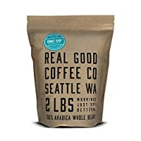 Real Good Coffee Co Whole Bean Coffee, Donut Shop Medium Roast Coffee Beans, 2 Pound Bag