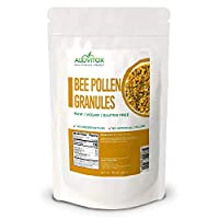 ALOVITOX Bee Pollen Granules | 100% Pure, Natural Raw Bee Pollen - Antioxidants, Proteins, Vitamins B6, B12, C and A, Amino Acids and More | 16 oz Bag