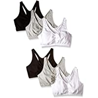 Fruit of the Loom Women's Shirred Front Racerback (Pack of 6)