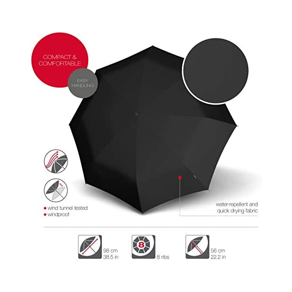Knirps T.100 Duomatic Compact Lightweight Wind Resistant Auto Open//Close Travel Umbrella