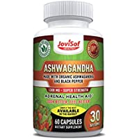 Premium Organics Ashwagandha Capsules 1300mg. Our Ashwagandha Capsules Adress Anxiety Relief with Our Unequaled Extract Promoting Mood Boost Anti Depressant Stress Relief Supplement