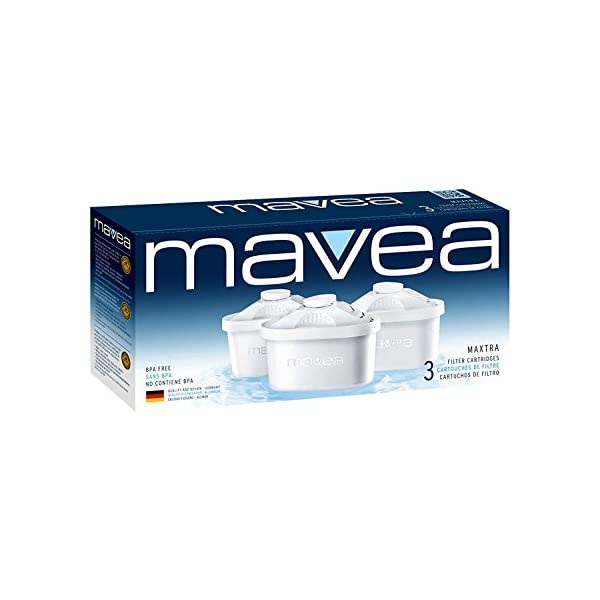 MAVEA 1001495 Maxtra Replacement Filter for MAVEA Water Filtration Pitcher 1-Pack White
