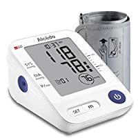 Blood Pressure Monitor Upper Arm by Alcedo | Automatic Digital BP Machine with Wide-Range Cuff for Home Use | Large Screen, 1x74 Reading Memory