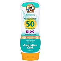 Australian Gold Sunscreen Lotion for Kids SPF 50, 8 Ounce   Non-Greasy   Broad Spectrum   Water Resistant