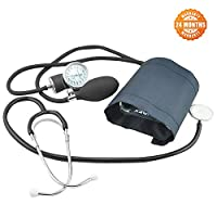 zinnor Manual Blood Pressure Cuff, Professional Aneroid Sphygmomanometer and Stethoscope Kit with Carrying Case