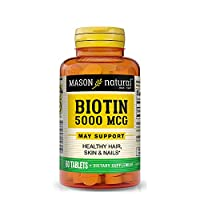 Mason Natural Super Biotin 5000 Mcg, 60 Tablets