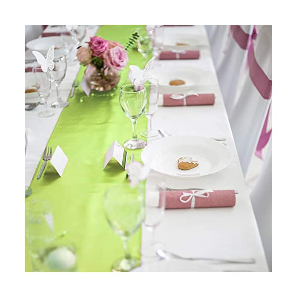 Banquets Graduations Engagements Table Runners Fit Rectange And Round Table Decorations For Birthday Parties Tiger Chef 12 Pack Apple Green 12 X 108 Inches Long Satin Table Runner For Wedding Kitchen Dining