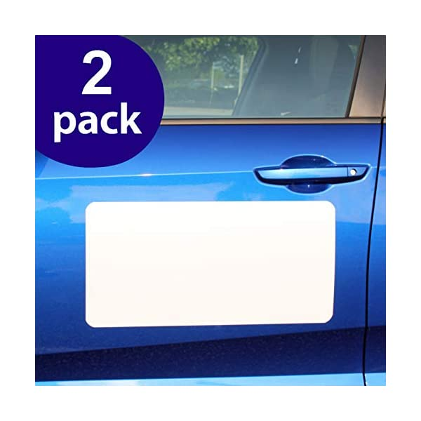 2 Pack Magnet for Car to Advertise Business SignHero Blank Car Magnets - Rounded Corners Blank Car Magnet Set Cover Company Logo and Prevent Car Scratches /& Dents Extra Large for HOA