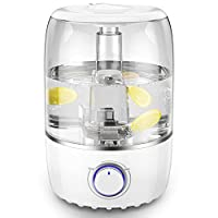 ASAKUKI Cool Mist Humidifier, 4L Top Fill Ultrasonic Air Humidifier with Essential Oil Tray, Vaporizer with 360° Nozzle for Bedroom, Works Up to 20-60 Hours
