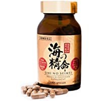 High Concentration Fucoidan Supplement UMI NO SEIMEI 180 capsules | Fucoidan Extract Capsules 41400mg | Chaga Mushroom Extract Capsules 2790mg | Perfect Boosting Your Immune System | Made In Japan