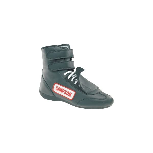 Simpson Racing 28550BK The Hightop Black Size 5-1//2 SFI Approved Driving Shoes