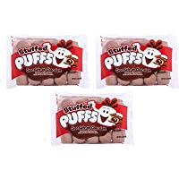 Stuffed Puffs - Chocolate-on-Chocolate 3 Pack, Chocolate Filled Cocoa Marshmallows Made with Real Chocolate, Perfect for S'mores and Snacking, 3 Bags (8.6oz each)