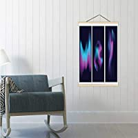 Blurred Liquid Electric Wavy Holographic Silk Abstract Soft Colorful Blue White Purple Turquoise Colors Flow Blend Gradient Backgrounds Set Illustration Australia,16/19/24 Frams Abstract Poster Fram