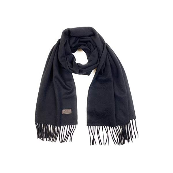100/% Italian Cashmere 72 inches x 12 inches by Hickey Freeman Men/'s Cashmere Scarf