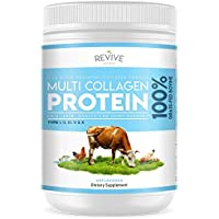 Multi Collagen Hydrolyzed Protein Powder (16oz) - Types I, II, III, V & X - Grass Fed Bovine (Peptan®), Wild Caught Marine, Free Roaming Chicken & Eggshell Collagen Peptides, Non-GMO, GF.