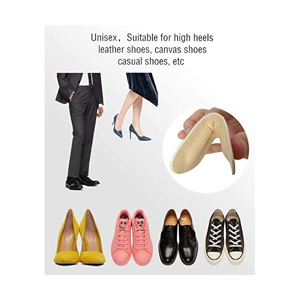 Heel Grip Liner Insert for Shoes Too Big,Shoe Filler Improved Shoe Fit and Comfort,Leather Prevent Blisters Black, Thicker