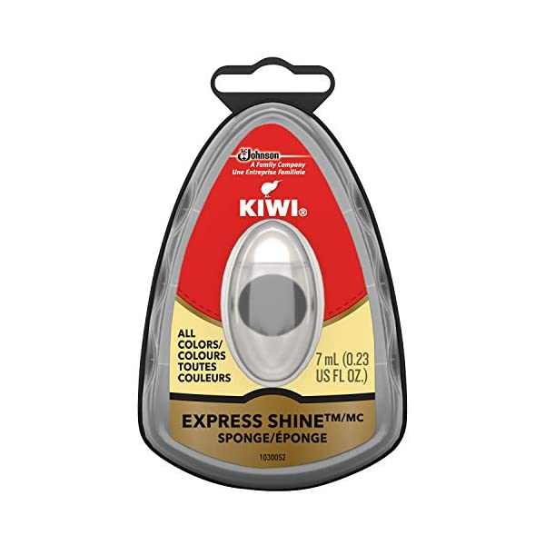 KIWI Express Shoe Shine Sponge | Leather Care for Shoes, Boots, Furniture, Jacket, Briefcase and More | All Colors