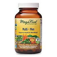 MegaFood, Multi for Men, Supports Optimal Health and Wellbeing, Multivitamin and Mineral Supplement, Gluten Free, Vegetarian, 60 tablets (30 servings)