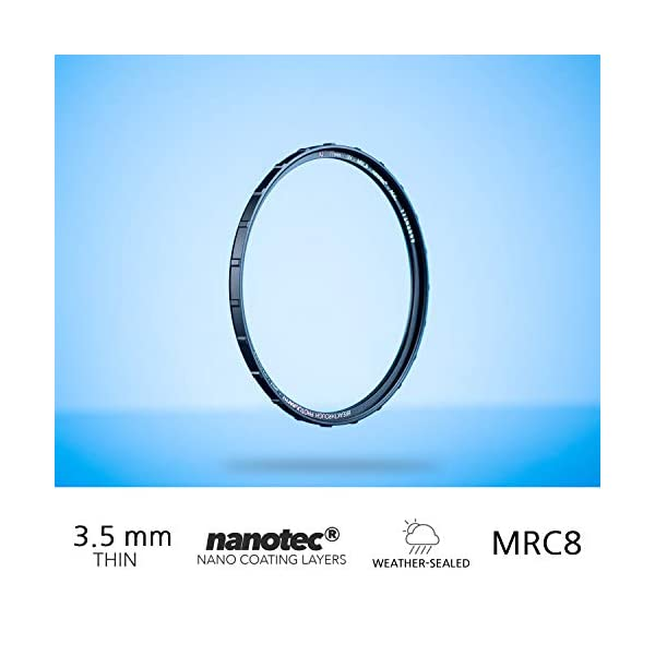 Nanotec Coatings 60mm X2 CPL Circular Polarizing Filter for Camera Lenses Weather Sealed by Breakthrough Photography AGC Optical Glass Polarizer Filter with Lens Cloth MRC8