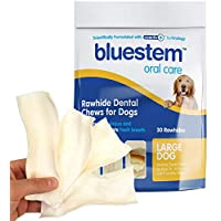 Bluestem Rawhides for Dogs: Chip Dog Chews Treats for Medium and Large Dogs That Reduce Plaque and Tartar While Promoting Fresh Breath. Long Lasting Raw Hide Dog Dental Chews & Dog Chew Treats