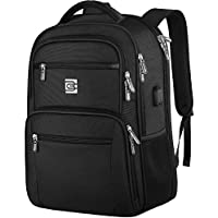 Laptop Backpack, Professional TSA Business Travel Durable Anti Theft Laptops Backpack with USB Charging Port, Water Resistant College Backpack for Women & Men Fits 15.6 Inch Laptop and Notebook Black